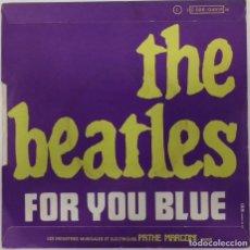 Discos de vinil: THE BEATLES - THE LONG AND WINDING ROAD - SG - ED FRANCESA 1970. Lote 157251310