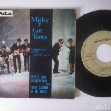 Discos de vinilo: MICKY Y LOS TONYS - PRETTY BABY - EP 1965 - NOVOLA - MEGATON YEYE B.S.O. Lote 157263470