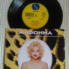 Discos de vinilo: MADONNA - '' HANKY PANKY / MORE '' SINGLE 7'' UK 1990 UNIQUE PICTURE. Lote 157284882