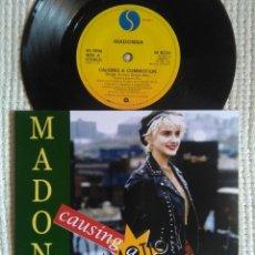 Discos de vinilo: MADONNA - '' CAUSING A COMMOTION / JIMMY JIMMY '' SINGLE 7'' UK 1987 UNIQUE PICTURE. Lote 157285550