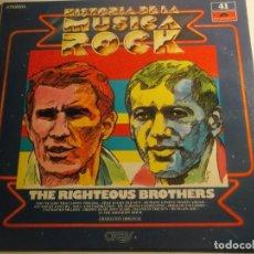 Disques de vinyle: HISTORIA DE LA MUSICA ROCK-THE RIGHTEUS BROTHERS-Nº 41-ESTADO EXCELENTE. Lote 157286286