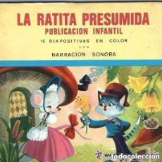 Discos de vinilo: LA RATITA PRESUMIDA, FLEXI-DISC+ NARRACION SONORA Nº 11 + 15 DIAPOSITIVAS EN COLOR - 1969 (BLANCO). Lote 157319738
