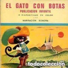 Discos de vinilo: EL GATO CON BOTAS, FLEXI-DISC CON NARRACION SONORA Nº 3 + 15 DIAPOSITIVAS EN COLOR - 1967. Lote 157319942