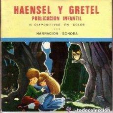 Discos de vinilo: HAENSEL Y GRETEL, FLEXI-DISC CON NARRACION SONORA Nº 2 + 15 DIAPOSITIVAS EN COLOR - 1968. Lote 157320202