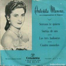 Discos de vinilo: ANTOÑITA MORENO / SORTIJA DE ORO + 3 (EP 1959). Lote 227833550