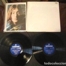 Discos de vinilo: BEATLES DOBLE BLANCO ORIGINAL ESPAÑA 1968 ETIQUETA BOLSA IMPORTADA VINILO EMI ODEON RARO. Lote 157346058
