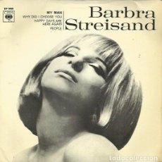 Discos de vinilo: BARBRA STREISAND. EP. SELLO CBS. EDITADO EN ESPAÑA. AÑO 1986. Lote 157353002
