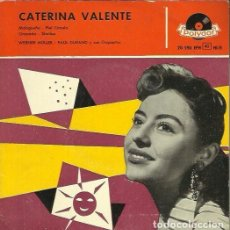 Discos de vinilo: CATERINA VALENTE. EP. SELLO POLYDOR. EDITADO EN ESPAÑA. AÑO 1958. Lote 157353414