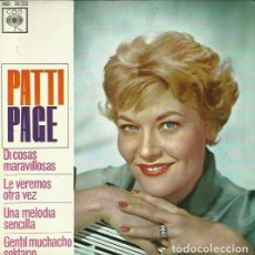Discos de vinilo: PAYYI PAGE. EP. SELLO CBS. EDITADO EN ESPAÑA. AÑO 1963. Lote 157354406
