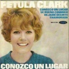 Discos de vinilo: PETULA CLARK. EP. SELLO DISQUES VOGUE. EDITADO EN ESPAÑA. AÑO 1965. Lote 157354806