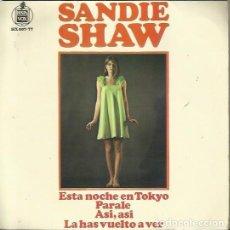Discos de vinilo: SANDIE SHAW. EP. SELLO HISPAVOX. EDITADO EN ESPAÑA. AÑO 1967. Lote 157355782