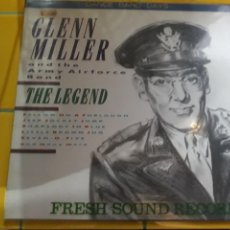 Discos de vinilo: LP GLENN MILLER AND THE ARMY AIRFORCE BAND THE LEGEND- IMPORT GERMANY GEOFFS 1986 7. Lote 157358494