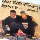 Discos de vinilo: SINGLE (VINILO) DE BENNY B, FEATURING DADDY K. AÑOS 90. Lote 157364178