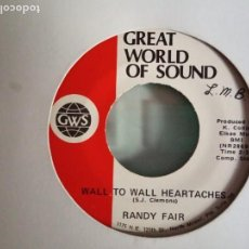 Discos de vinilo: RANDY FAIR WALL TO WALL HEARTACHES / DONNA (I REALLY LOVE YOU) R'N'R COUNTRY ORIGINAL USA RARO VG++. Lote 157378734