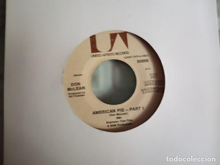 DON MCLEAN AMERICAN PIE (PARTS 1 & 2) ORIGINAL USA 1971 NM (Música - Discos - Singles Vinilo - Pop - Rock - Extranjero de los 70)
