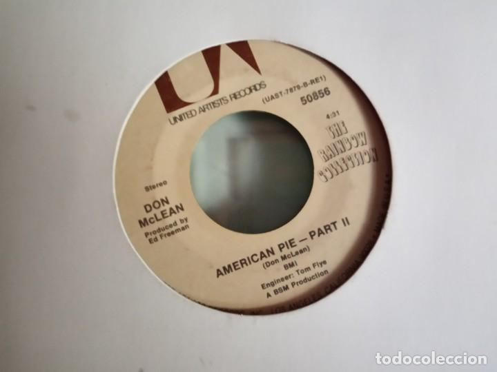 Discos de vinilo: DON MCLEAN AMERICAN PIE (PARTS 1 & 2) ORIGINAL USA 1971 NM - Foto 2 - 157381714