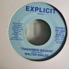 Discos de vinilo: WALTER BAILES TIANANMEN SQUARE / THE BERLIN WALL COUNTRY ORIGINAL USA 1989 RARO NM. Lote 157386542