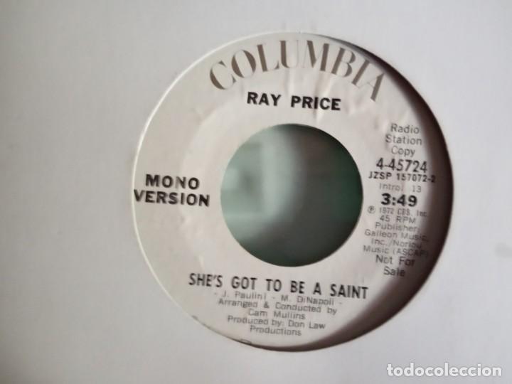Discos de vinilo: RAY PRICE SHE'S GOT TO BE A SAINT (STEREO/MONO) ORIGINAL USA 1972 PROMO NM - Foto 2 - 157388170
