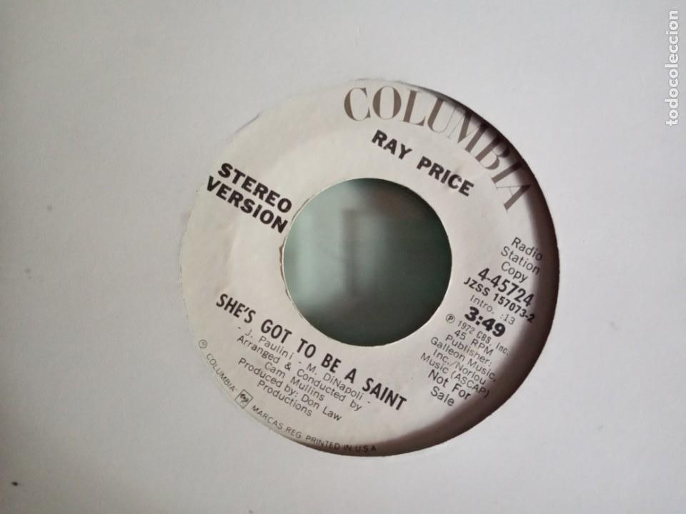 RAY PRICE SHE'S GOT TO BE A SAINT (STEREO/MONO) ORIGINAL USA 1972 PROMO NM (Música - Discos - Singles Vinilo - Pop - Rock - Extranjero de los 70)