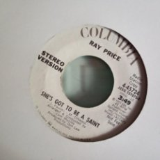 Discos de vinilo: RAY PRICE SHE'S GOT TO BE A SAINT (STEREO/MONO) ORIGINAL USA 1972 PROMO NM. Lote 157388170