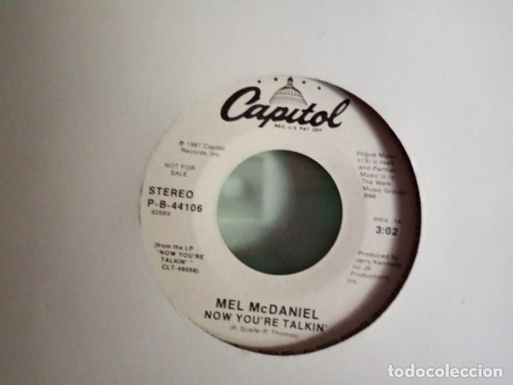 Discos de vinilo: MEL MCDANIEL NOW YOU'RE TALKIN' PROMO RNR COUNTRY ORIGINAL USA 1987 NM - Foto 2 - 157388602
