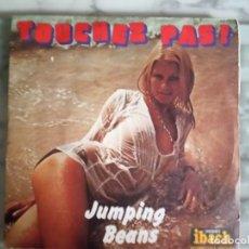 Discos de vinilo: JUMPING BEANS TOUCHEZ PAS! / DON'T TOUCH DISCO LOUNGE ORIGINAL FRANCIA 1976 NM. Lote 157395894