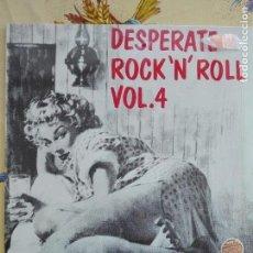 Discos de vinilo: MUSICA LP - DESPERATE ROCK N ROLL - FLAME - VOLUME 4 - EROTICA SEXO. Lote 157527942