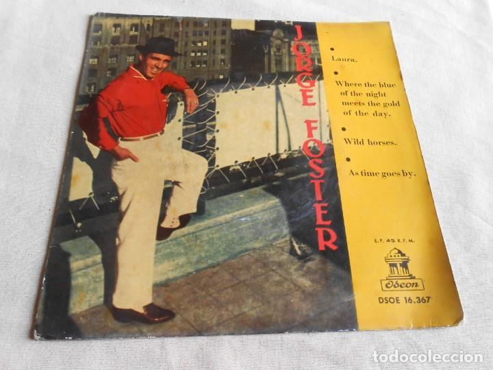 Discos de vinilo: JORGE FOSTER, EP, LAURA + 3, AÑO 1960 - Foto 2 - 157665450