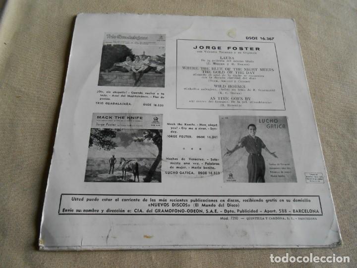 Discos de vinilo: JORGE FOSTER, EP, LAURA + 3, AÑO 1960 - Foto 3 - 157665450