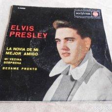 Discos de vinilo: ELVIS PRESLEY, EP, LA NOVIA DE MI MEJOR AMIGO + 3, AÑO 1963. Lote 157665994