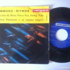 Discos de vinilo: ANDREAS HARTMAN - HAMMOND RITMOS - EP 1963 - VERGARA. Lote 157673290