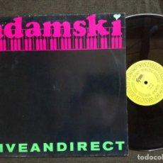 Discos de vinilo: ADAMSKI LIVE AN DIRECT LP 1989 . Lote 157692486