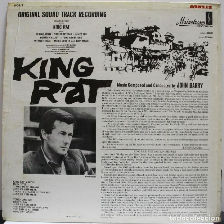 Discos de vinilo: KING RAT. JOHN BARRY - Foto 2 - 157694934