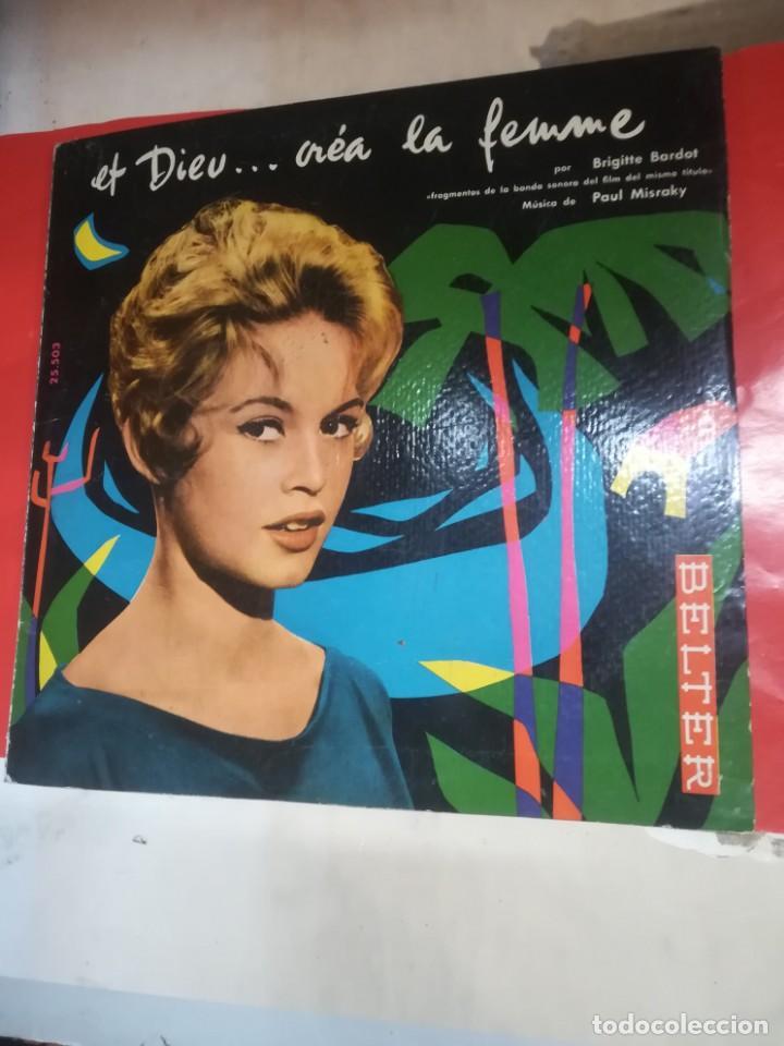 BRIGITTE BARDOT, ET DIEU CREA LA FEMME ,BELTER EP ORIGINAL 1957. (Música - Discos de Vinilo - EPs - Bandas Sonoras y Actores)