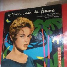 Discos de vinilo: BRIGITTE BARDOT, ET DIEU CREA LA FEMME ,BELTER EP ORIGINAL 1957.. Lote 157695926