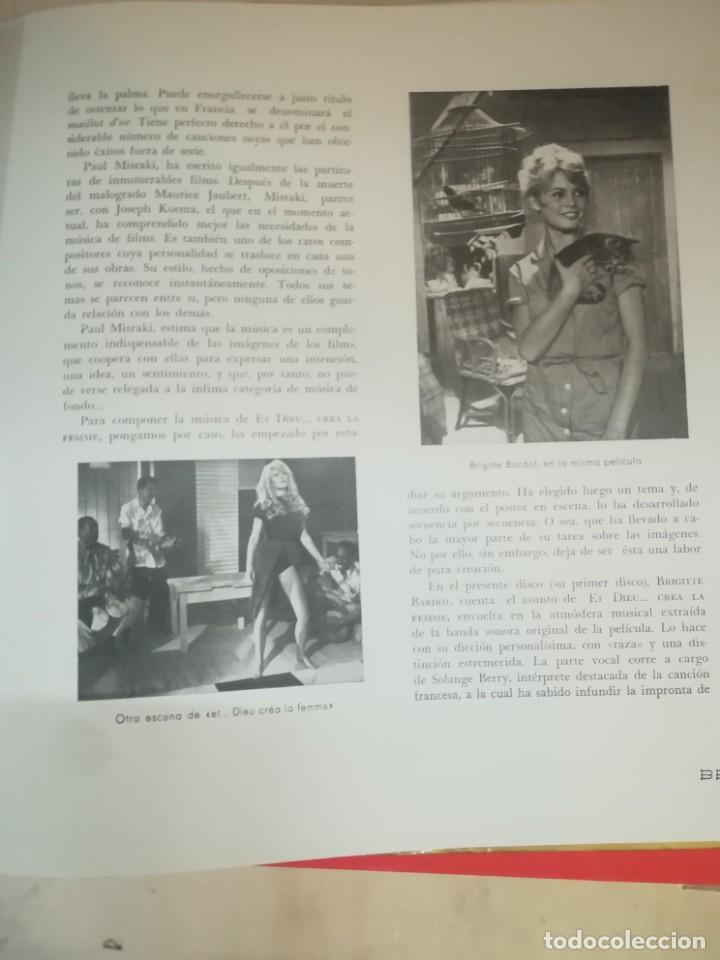 Discos de vinilo: BRIGITTE BARDOT, ET DIEU CREA LA FEMME ,BELTER EP ORIGINAL 1957. - Foto 8 - 193228833