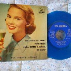 Discos de vinilo: JOSE GUARDIOLA - LOS NIÑOS DEL PIREO / TOM PILLIBI + 2 EP AÑO 1960 VINILO AZUL TURQUESA - COMO NUEVO. Lote 157712286