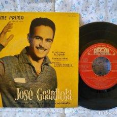 Disques de vinyle: JOSE GUARDIOLA - COME PRIMA (LA PRIMERA VEGADA) + 3 (CANTA EN CATALÁN) EP REGAL SEBL 7.081 AÑO 1958. Lote 157714362