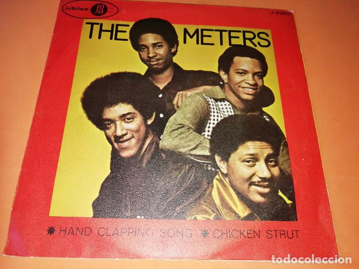 THE METERS - HAND CLAPPING SONG - CHICKEN STRUT SINGLE 45 R.P.M. - JUBILEE - 1970.RARO. (Música - Discos - Singles Vinilo - Funk, Soul y Black Music)