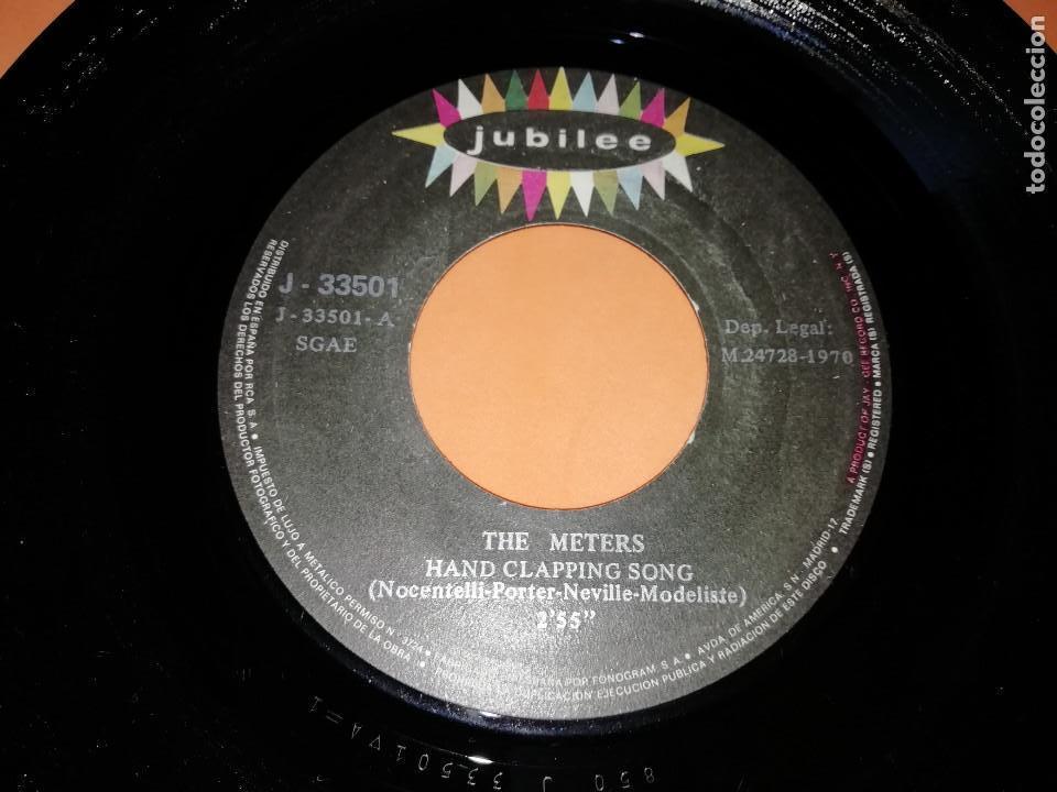 Discos de vinilo: THE METERS - HAND CLAPPING SONG - CHICKEN STRUT SINGLE 45 R.P.M. - JUBILEE - 1970.RARO. - Foto 4 - 157728226