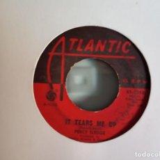 Discos de vinilo: PERCY SLEDGE IT TEARS ME UP / HEART OF CHILD SOUL ORIGINAL USA 1966 VG-. Lote 157735562