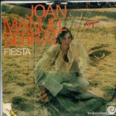 Dischi in vinile: JOAN MANUEL SERRAT / FIESTA / SEÑORA (SINGLE PROMO 1970). Lote 157741294