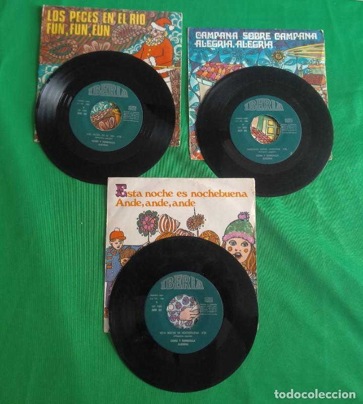 DISCOS - LOTE DE TRES DISCOS SINGLES MÚSICA INFANTIL DE NAVIDAD 1968 (VER FOTOS) (Música - Discos - Singles Vinilo - Música Infantil)
