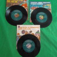 Discos de vinilo: DISCOS - LOTE DE TRES DISCOS SINGLES MÚSICA INFANTIL DE NAVIDAD 1968 (VER FOTOS). Lote 157748438