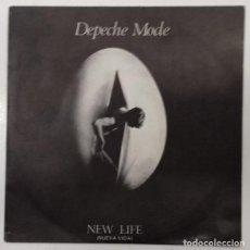 Discos de vinilo: DEPECHE MODE - NEW LIFE = NUEVA VIDA SG ED. ESPAÑOLA 1981. Lote 157749226
