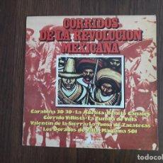 Discos de vinilo: DISCO VINILO LP, CORRIDOS DE LA REVOLUCIÓN MEXICANA, NEVADA ND-1098 AÑO 1977. Lote 157764890