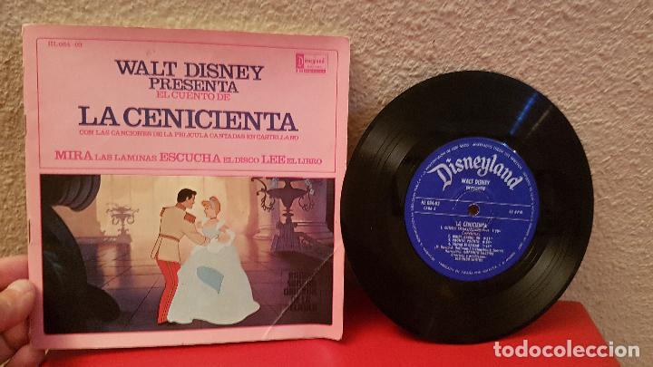 DISCO CUENTO WALT DISNEY PRESENTA LA CENICIENTA DISNEYLAND RECORD HISPAVOX ANTIGUO (Música - Discos - Singles Vinilo - Música Infantil)