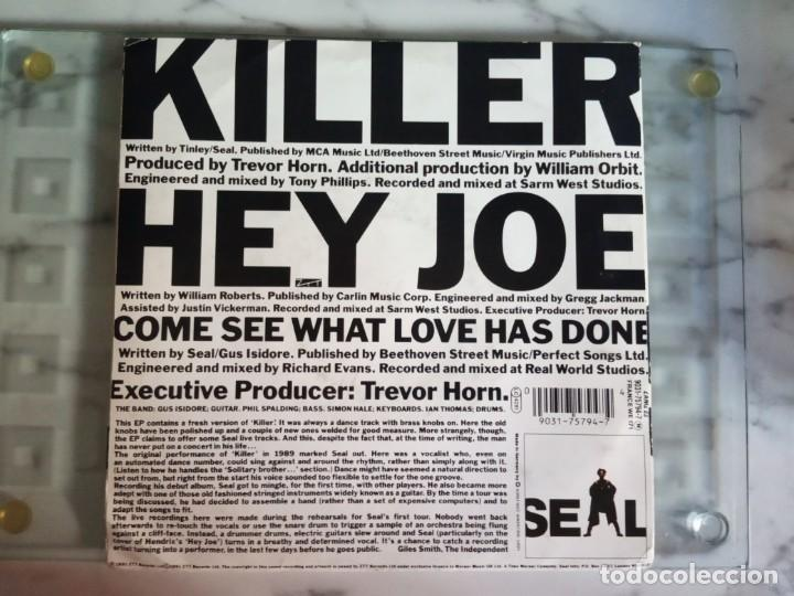 Discos de vinilo: SEAL KILLER ON THE LOOSE SOUL ELECTRONICA EP ORIGINAL EUROPA 1991 NM - Foto 2 - 157773986