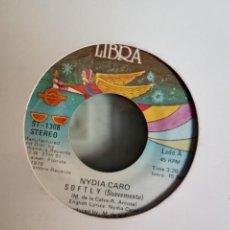 Discos de vinilo: NYDIA CARO SOFTLY (SUAVEMENTE) / SUGAR ME DISCO ORIGINAL USA 1978 NM. Lote 157774470