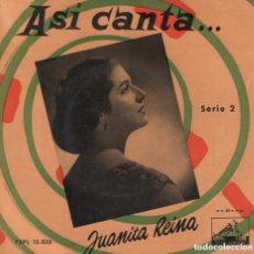 Disques de vinyle: JUANITA REINA - ASI CANTA ... SERIE 2 / EL LIBRO DE LOS SUEÑOS / EP LA VOZ DE SU AMO RF-3589. Lote 210778516